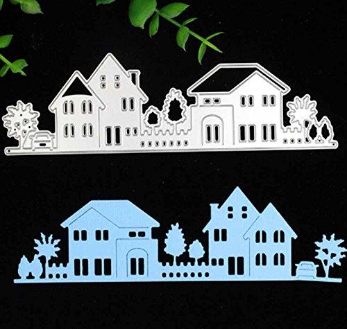 Qinpin Stanzschablone für Kartenherstellung, Metall, Prägung, Schablone für DIY Scrapbook, Album, Papier, Karten, Dekoration, kostenlose Lieferung, Karbonstahl, M, Einheitsgröße