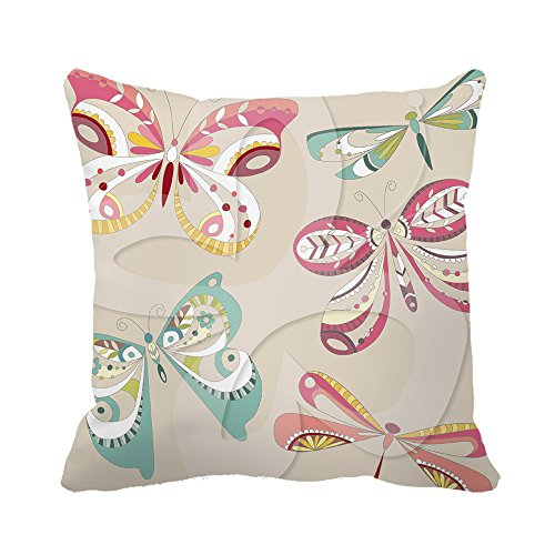 warrantyll-colorful-dragonfly-butterfly-canvas-cushion-decorative-square-pillow-case-20x20-inch