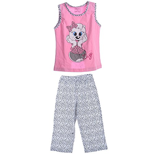 Bumble bee Pink Cotton Girls Night Suit