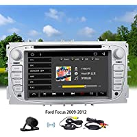 Free Wireless Rear Camera - Android Car Stereo with Navigation - 7 Inch Touch Screen Double Din Car Radio Bluetooth Head Unit GPS Navigation for Ford Focus Support Mirror Link SWC 1080P Video Cam-In