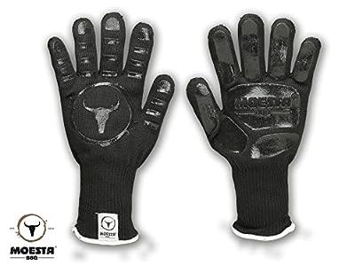 MOESTA-BBQ GrillGloves No.1 - Die Grill-Handschuhe der Profis - Bis 500° C hitzebeständiger Grill- und Ofen-Handschuhe aus Meta-Aramid - Zertifiziert nach Lebensmittelstandard LFGB