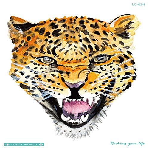 adgkitb Neue umweltfreundliche wasserdichte Big Picture Blume Arm Tattoo Stick dauerhafte Persönlichkeit Tiger Tier Tattoo Aufkleber 23 21x15cm