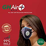 Grin Health GHAir+ N99 Anti Pollution Mask, Reusable, Washable, Durable, All Day Air Protection
