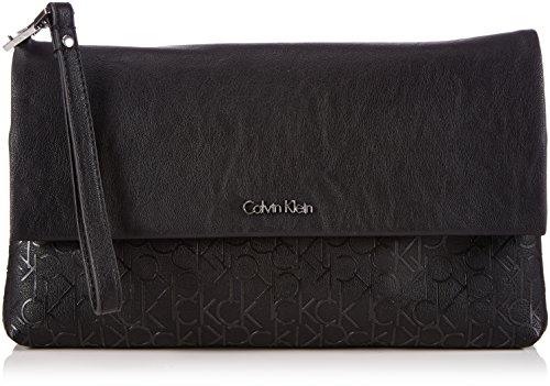 8eb01d89d Calvin Klein Jeans MADDIE CLUTCH - Bolso de mano de piel sintética mujer,  color negro, talla 30x19x3 cm