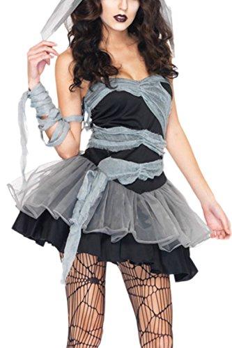Frauen Ist Halloween Auch Rohr Geist Braut Vampir - Hexe Cosplay - Party - Kleid Black One (Vampir Halloween Kleid)