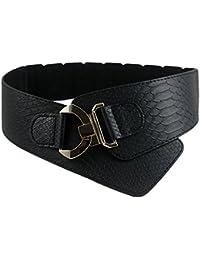 iShine Mujer Moda Stretch Elástico Ajustable Cinturón con Modelo ... 233b5faf263d