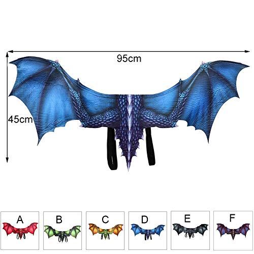 FYYTRL Halloween Kostüm Drachenflügel, Adult Dragon Costume Wings Cosplay, Einheitsgrösse,D