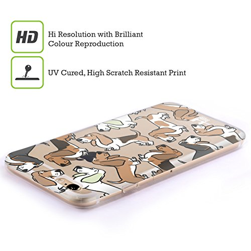 Head Case Designs Shih Tzu Race De Chien Modèle 2 Étui Coque en Gel molle pour Apple iPhone 5 / 5s / SE Basset