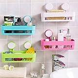 Valamji Bathroom Shelves Suction Shelf Suction Rack Plastic