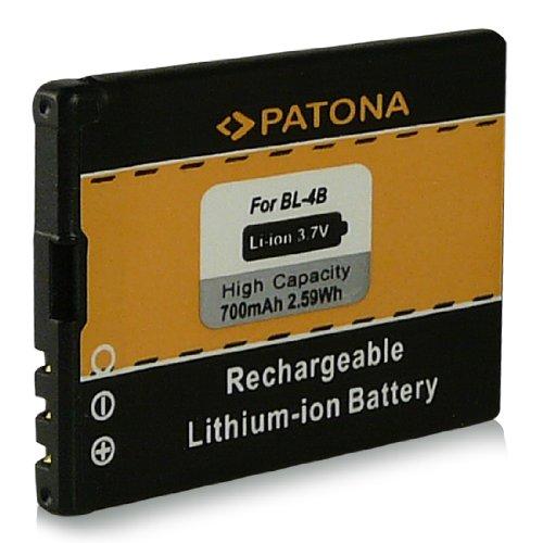 Batteria bl-4b | bl4b per nokia 1606 | 2505 | 2630 | 2660 | 2760 | 3606 | 5000 | 6111 | 7070 prism | 7370 | 7373 | 7500 prism | 7088 | n75 | n76 e più… [ li-ion, 700mah, 3.7v ]