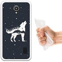 WoowCase Funda Huawei Ascend Y635, [Huawei Ascend Y635 ] Funda Silicona Gel Flexible Lobo Frase -WeAreAllMadeOfStars, Carcasa Case TPU Silicona - Transparente