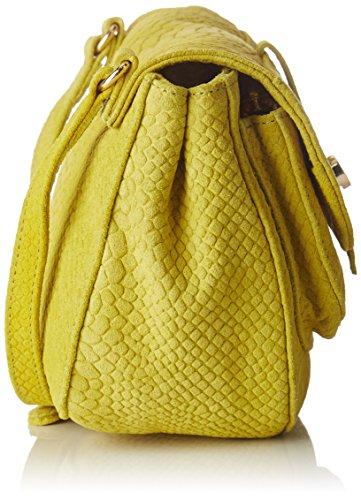 Petite Mendigote Damen Tineo Umhängetasche, 7x15.5x19.5 cm Gelb (Lime)