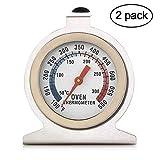 Termometro da forno da 2, Termometro quadrante tondo Confezione serie Classic Termometro da forno Fahrenheit 100-600 gradi da leggere temperature segnate per cucine professionali e da casa (Oven)