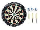 Pack Diana clasica de pelo Sisal marca Longfield, 45cm diametro. 4cm de grosor. Peso 5kg. Modelo Oficial Competiciones + dardos competicion 59124/64787