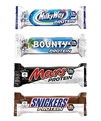 Milky Way, Mars, Snickers, Bounty Protein Bars (Mixed Box) by Mars Protein