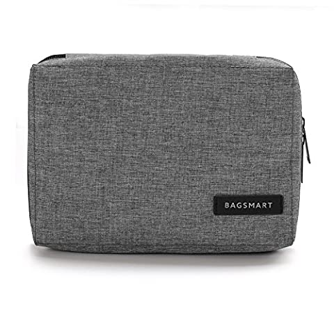 BAGSMART Small Travel Electronics Cable Organizer Bag for Hard Drives, Cables, USB Cable, SD Card