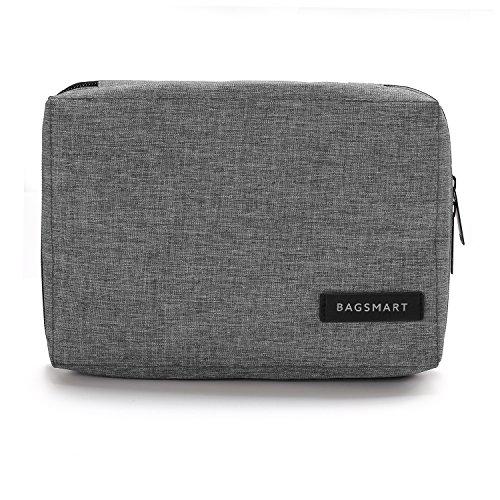 BAGSMART Elektronische Tasche, Elektronik Organizer Reise für Handy Ladekabel, Powerbank, USB Sticks, SD Karten (Grau)  Kleine Memory Card Case