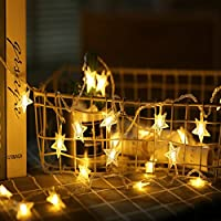 Happium - Battery Operated Stars Warm White 20 LED Fairy Light String 3M