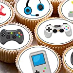 24 Gaming Computer Games Xbox Play Station ds Cake Toppers 4cm On Wafer Rice Paper