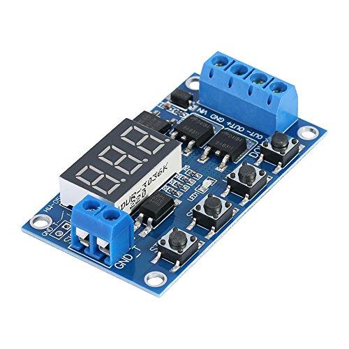 DC 5-36V Ersetzen Relais Digital LED Board Switch Circuit Dual-MOS Trigger Zyklus Schaltkreis-Timer Delay-Modul