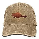 Aoliaoyudonggha Beaver Unisex Adjustable Baseball Caps Denim Hats Cowboy Sport Outdoor