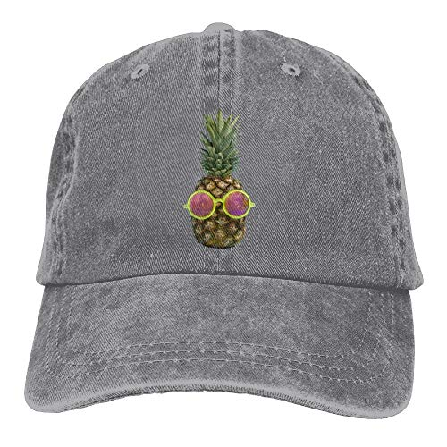 AOHOT Herren Damen Baseball Caps,Hüte, Mützen, Classic Baseball Cap, Sunglasses Pineapple Denim Hat Adjustable Male Snapback Baseball Caps