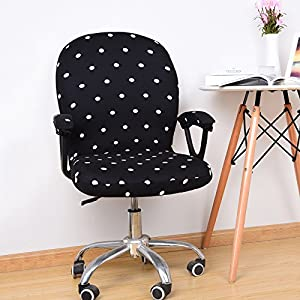 PerGrate Swivel Chair Cover Stretchable Removable Computer Office Washable Rotating Lift