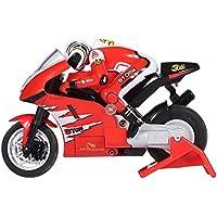 Dilwe RC Motocicleta, 2.4GHz Carreras de Velocidad Control Remoto Motocicleta RC Moto Modelo Juguete(Rojo)