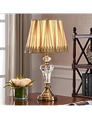 Cristal de la lámpara de noche dormitorio de la lámpara de mesa moderna sala de estar minimalista luces lujo lámparas de decoración acogedora (Sin fuente de luz)
