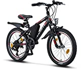 Licorne Bike Guide, (Schwarz/Rot/Grau),20 Zoll Mountainbike,geeignet für 6,7,8,...