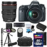 #9: Canon EOS 6D CMOS Digital SLR Camera & Canon Zoom Wide Angle-Telephoto EF24-105mm IS f/4 L USM Lens UV Filter Kit & Extra Battery +Tripod + Monopod + 32GB Complete Deluxe Accessory Bundle & Much More!