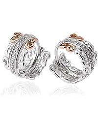 Clogau Women 925 Sterling Silver Diamond Ear Cuff Earrings  3SETOLE04