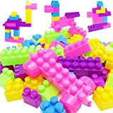 Sunsoar Puzzle 46Pcs Plastic Children Kid Educational Building Blocks Bricks Toy Birthday Chriamas
