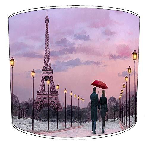 Premier Lighting Ltd Paris Abat-Jour pour plafonnier Rouge 20,3 cm, 30,5 cm