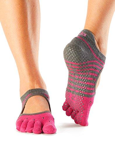 1paio Calzini da yoga per biologico Tag davanti in calzini dita ToeSox con sul aperti cotone Bella donna Y1ESpq