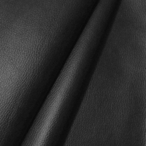 Cuir Synthétique PVC d'ameublement - couleur: NOIR structure cuir Vache