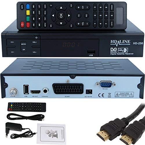 HD-Line HD-250 - Receptor TV satélite conexión