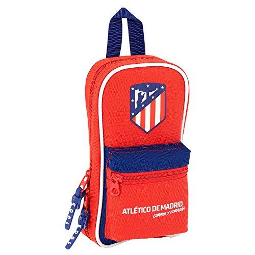 Safta Neceser Con 4 Estuches Atlético De Madrid «Coraje» Oficial 120x50x230mm