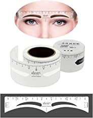 ELEVEN EVER Disposable Eyebrow Ruler Sticker, 50Pcs Eyebrow Shaping Stencils Microblading Supplies Adhesive Eyebrow Template Tool (Natural Eyebrow)
