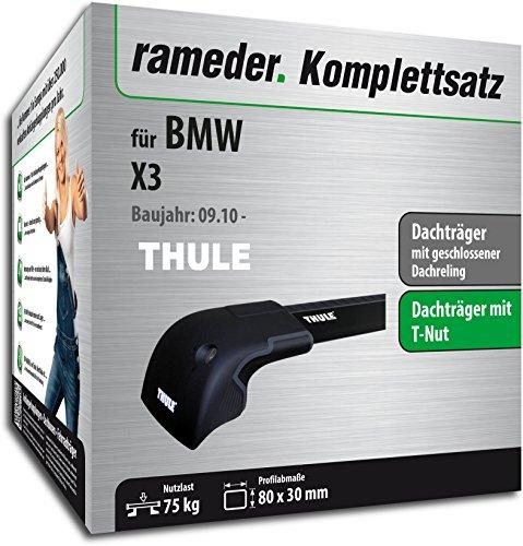 Rameder Komplettsatz, Dachträger WingBar Edge für BMW X3 (119757-08763-1)