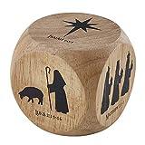Cristianità Natale Storia Cubo 6cm Natività Silhouette