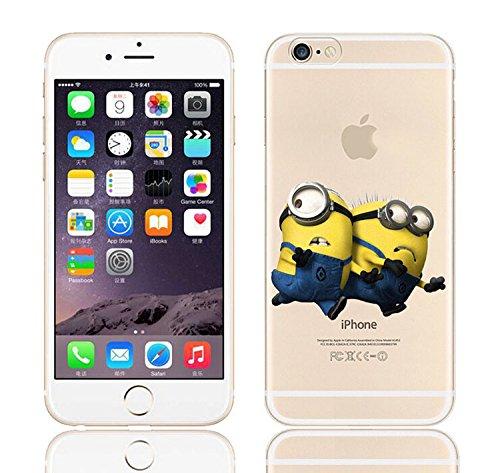 Coque iPhone 6s / Minions couvercle de gel de bande dessinée pour Apple iPhone 6s 6 / protecteur d'écran et écran chiffon par iCHOOSE / lavage Regarde derrière