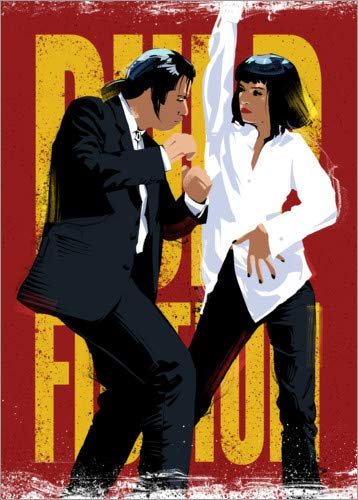 Póster 50 x 70 cm: Pulp Fiction Dance Nikita Abakumov