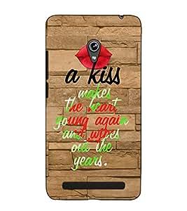 Fuson Designer Back Case Cover for Asus Zenfone 5 A501CG (A kiss makes theme)