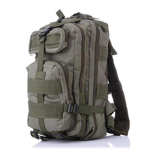 Homdsim 25l-30l Army molle 3Day Pack 3P assalto tattico militare campeggio zaino per uomo donna borsone da viaggio borsa da palestra, Desert Camouflage Green