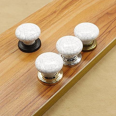 Maniglia in ceramica unico gold circle cassettiera manopola porta accessori mobile impugnatura,immagini con colori, set di