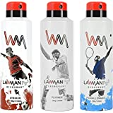 LAWMAN PG3 Striker, Flicker, Challenger Deodorant Spray - For Men (630 Ml, Pack Of 3)