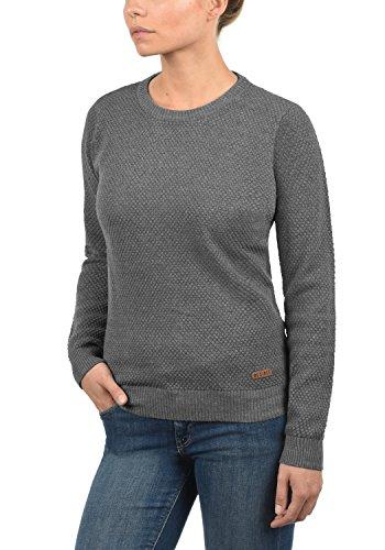 DESIRES Sarah - Maglione da Donna Med Grey Melange (8254)