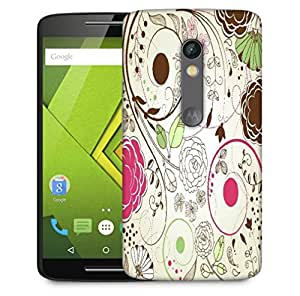 Snoogg Retro Floral Background Designer Protective Phone Back Case Cover For Motorola Moto X Play