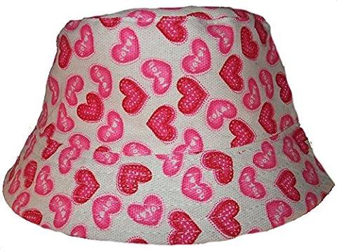 Säugling Baby Kleinkind Mädchen Summer Leinwandbild Hut aus Baumwolle